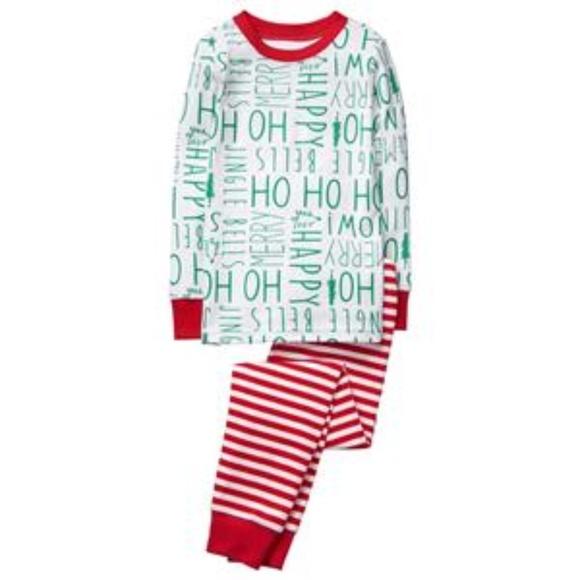 Christmas Boys Girls HOHOHO 2 Pc Gymmies Pajama 9eb7baa8d